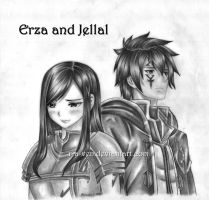 erza and jellal by r-a-ven
