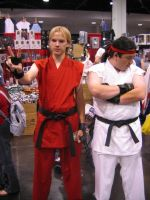 Ken and Ryu Cosplay by Knightfourteen
