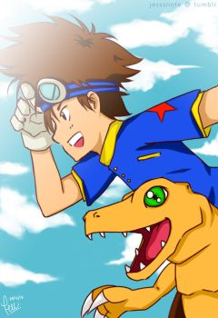[Digimon Adventure] Taichi/Agumon by jess09