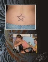star tattoo by Petine