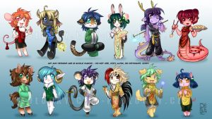 Chinese Zodiac by Neolucky