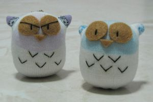 Owl sock doll by httpecho