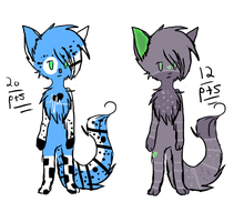 Anthro kitty adopts CLOSED by Fay-Adopts