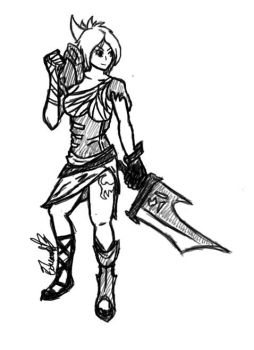 Riven Sketch by NotsoFancy