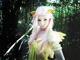 Cosplay: Fluttershy's Stare by Angels-Leaf