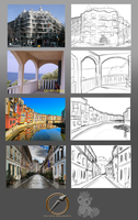 Perspective and citiscape studies by sim-pie