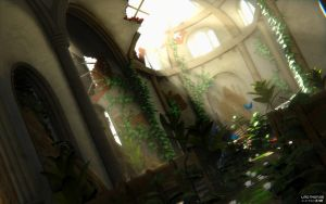 Broken church in the jungle by Linolafett