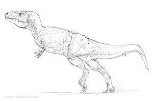 Tyrannosaur lineart by Red-Dilopho