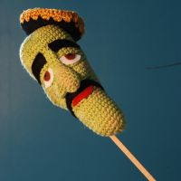 Jeff Dunham 's Jose Jalapeno (on a stick !) by Ahookamigurumi