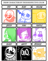 Undertale Characters by Underfeels-AU