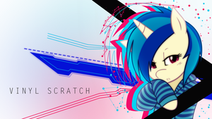 Vinyl Scratch Wallpaper #1 by SkyCraftDie