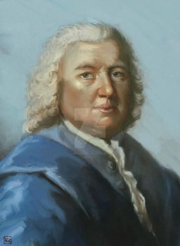 Portrait project in genealogy for Bach #7 by caophongart