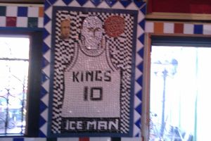 Mike Bibby Mosaic Painting at Sals by DearestLeader