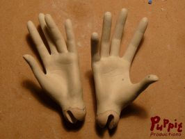 W.I.P: Firefox BJD - hand palms by PuppitProductions