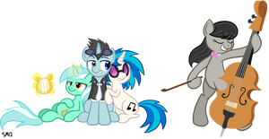 Commission: Pony Musicians by serenamidori