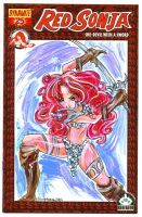 Red Sonja Sketch Cover by raccoon-eyes