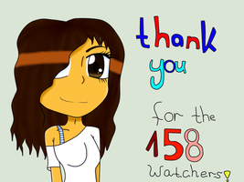 Thanks For The 158 Watchers! by DJDeryathehedgegie