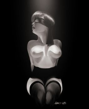 Speedpainting: blindfold by albonet
