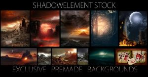 Premade Bckground Preview by Shadowelement-Stock