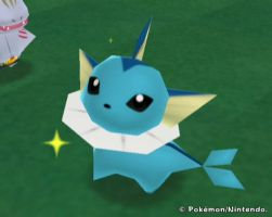 Pokemon Ranch-Sparkly Vaporeon by PrincessOfLior