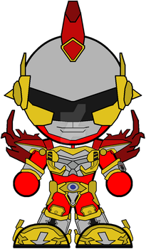 Chibi Time-Force Red Battle Warrior by Zeltrax987