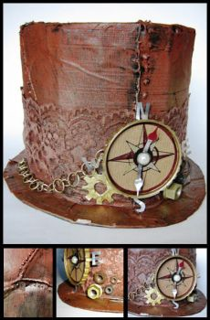 Steampunk hat by VPofFantasyland