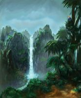 jungle falls bg by aoikiwi