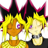 Heba and Yugi by Yami-No-Spirit-luver