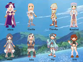 Rune Factory 2 Doll Collection by cutepiku