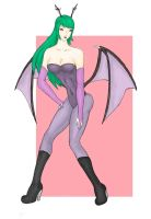 Morrigan Aensland Painting by seetoyuxiang