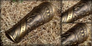 Loki Bracers Mark 2 - Avengers movie costume armor by rassaku