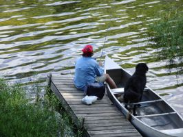My Dad and Duncan fishing by USOtaku013666
