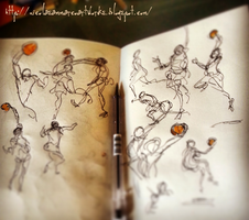 Gesture Drawing - NBA by nicolasammarco