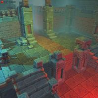 3D Pixel Dungeon Set 01 by bitgem