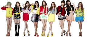 SNSD png [render] by Sellscarol