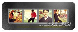 4 Darren Criss Icons + .PSDs by ofthespectrum