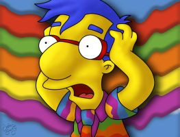 Milhouse Freak-Out by JordanStacy