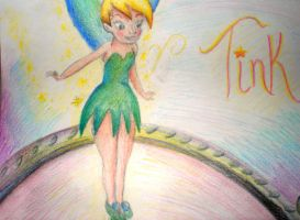 Tinkerbell on the mirror by misskat345