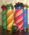 Pringles chips tubes morphs to Christmas tubes! by JaneSkyWalker