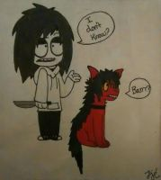 Jeff and Smile (Catoon style) by Octoberwolf1998