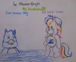 Care Bears - Hot Wave Horse and Cool Breeze Dog by MortenEng21