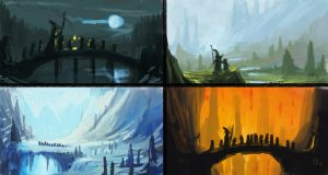Hobbit Speed Paintings by CadeBennett