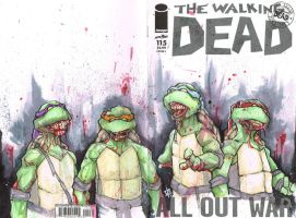 Ninja Turtle Zombies by ChrisOzFulton