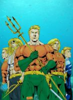 Aquaman Colors by JeanSinclairArts