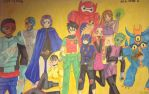 Big Hero 6 and Teen Titans Crossover by shoujomanga-hime