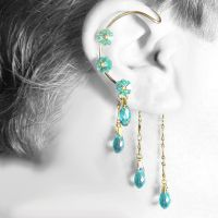 Aqua Crystal ear wrap- SOLD by YouniquelyChic