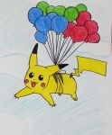 Pikachu can fly! by Randompikaturtle