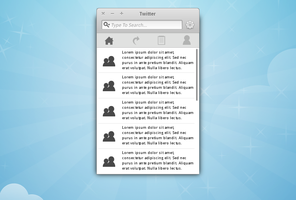Elementary Twitter Mockup by JohnMoss