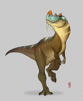 Ceratosaurus by CamaraSketch