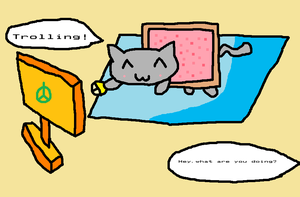 The life of nyan cat by thegamingdrawer